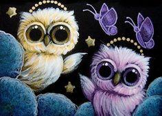 Owl Artwork, Owl Wall Art, Owl Bird, Bird Art, Cute Owls Wallpaper, Cute Owl Tattoo, Owl Cartoon, Beautiful Owl, Baby Owls