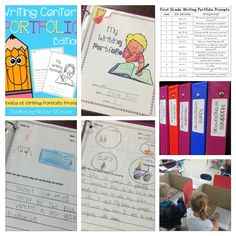 Writing portfolios for a lower elementary classroom!