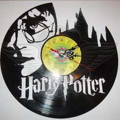 DIY HARRY POTTER Decorative Designed Modern Vinyl Record Wall Clock Silent Large New Bedroom Livingroom Office Decor Analog Universal Decorate your home Best gift for friend, girlfriend or boyfriend , 12 inch Décoration Harry Potter, Harry Potter Bedroom, Vinyl Record Clock, Vinyl Records, Wall Clock Silent, Wall Clocks, Record Crafts, Scroll Saw Patterns Free, Diy Clock