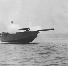 Elco 80-foot motor torpedo boat simultaneously launching two practice torpedoes during a training exercise in United States waters, 1942-44. - War History Online