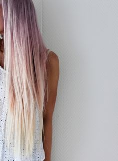 white purple pink hair <3