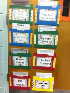 Set of 10 addition activities! Great way to display Math centers!