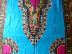 African Fabric Dashiki/Makenzi/Java Wax Print Sold By 2Yards Original From Africa,High Quality Cotton Fabrics. DIMENSIONS: 2 YARDS Long x 46 INCHES Width. Traditional Garments For Dressmaking… Dressmaking Fabric, Dashiki, African Fabric, Java, Yards, Cotton Fabric, Cover Up, Fabrics, Traditional