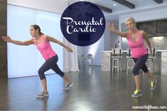 Prenatal cardio workout in under 20 minutes. Learn safe cardio exercises during pregnancy. Keep you and baby fit & healthy!