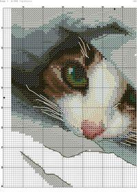 Cross stitch cat Photo1