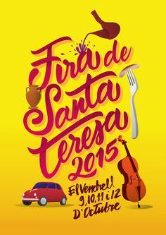 Propuesta para el concurso de carteles de la Fira de Santa Teresa de El Vendrell  www.rootstudio.es