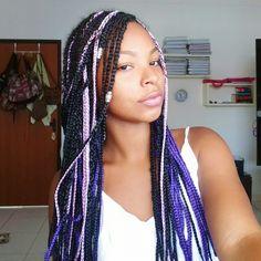 Box braids colors