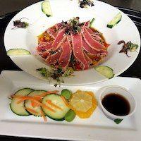 Seafood -Tuna with Wasabi-Boar's Head Restaurant PCB -Near Sandpiper Beacon Resort