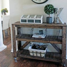 This Wooden Console / Entryway Table is so easy to build (we mean it!) and costs approx. $30 to make! #rustichomedecor