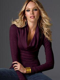 Ruched Cotton Cowlneck Sweater #VictoriasSecret http://www.victoriassecret.com/clothing/all-sweaters/ruched-cotton-cowlneck-sweater?ProductID=118=OLS?cm_mmc=pinterest-_-product-_-x-_-x