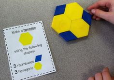 1.G.2 Composing 2-D Shapes Task Cards!
