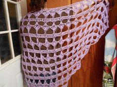 Statuesque Lavender Original Design Shawl..50% STOREWIDE SALE  JUNE 29th to JULY 5th  USE COUPON CODE: USA50  www.KaysKoolKrochet.Etsy.com