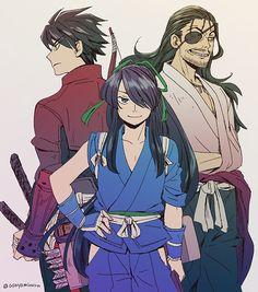 Drifters #Anime #Manga Toyohisa Shimazu, Nasu Suketaka Yoichi, and Oda Nobunaga