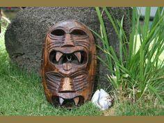 Fijian Tiki Mask with two Deities