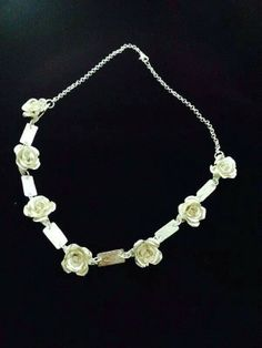 Collar de rosas de maria eugenia luna. Curso de joyeria artesal inf. 0414 021 7334