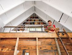 Loft library atop a tree house that's actually a home! #books #spaces #literary
