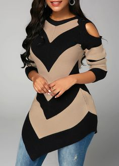 Stylish Tops For Girls, Trendy Tops, Trendy Fashion Tops, Trendy Tops For Women Cold Shoulder Sweater, Long Sleeve Sweater, Cold Shoulder Dress, Shoulder Sleeve, Chic Outfits, Fashion Outfits, Mother Daughter Matching Outfits, Trendy Tops For Women, Looks Chic