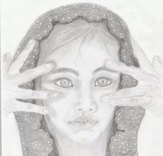 drawn with pencil.