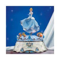 Disney Cinderella Jewelry Box Figurine Trinkets Porcelain Dress Shaped Hallmark