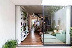 Contemporary Interior, Modern Interior Design, Interior Styling, Facade Design, House Design, Narrow House Plans, House Built, Story House, House 2