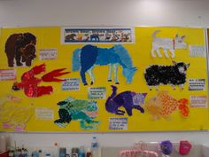 """Our """"Brown Bear, what did you see?"""" display wall."""