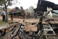bouake   ... Bouaké après le bombardement meurtrier du camp militaire français