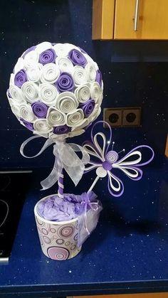 topiarios con flores de goma eva - Buscar con Google
