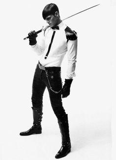Aitor Mateo in futuristic avant garde couture for men - pinned by RokStarroad.com