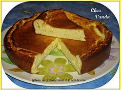 Gâteau au fromage blanc à la noix de coco