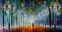 Leonid Afremov impressionistic paintings