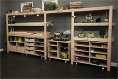 #DIY Built-In Shelves by Ana White. Download free plans and visit Ryobi Nation's Dream Workshop.