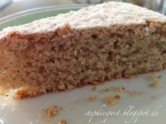 Unser Lieblings-Nusskuchen ohne Ei, ohne Butter:Mandelkuchen vegan - in 40 min auf dem Tisch:  www.stephiespost.blogspot.de