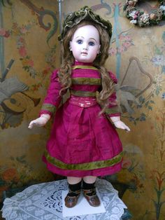 ~~~ Stunning French BeBe Jumeau with Rare Adult Modelled Body and from whendreamscometrue on Ruby Lane