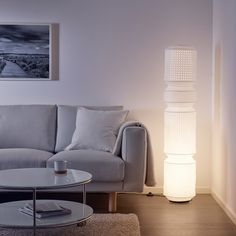 MAJORNA Floor lamp with LED bulb, white. You can create a soft, cozy atmosphere in your home with a paper lamp that spreads diffused and decorative light. At Home Furniture Store, Modern Home Furniture, Affordable Furniture, Luminaire Ikea, Paper Floor Lamp, Floor Lamps, Paper Lamps, Ikea Canada, Floor Standing Lamps