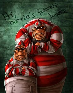 Alice Madness returns fanart, or better an American McGee's Alice fanart about the Tweedle brothers. They are two ugly trolls, and I love them in the first game as bosses.