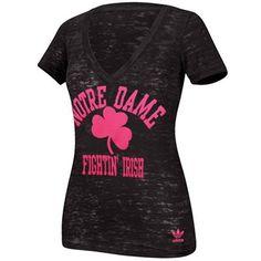 adidas Notre Dame Fighting Irish Women's Her Homecoming Hypercolor T-Shirt - Black/Pink