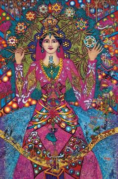 """The Shekhina is the female face of God in Judaism, a healer for the women in The Salt God's Daughter. They call on her to bring peace into the house.    """"The Shekhina Comes"""""""