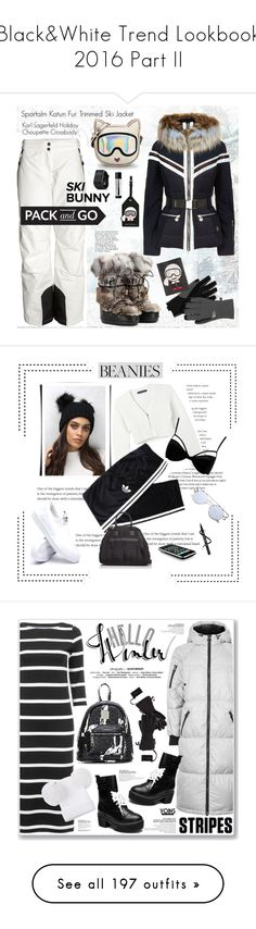 """""""Black&White Trend Lookbook 2016 Part II"""" by yours-styling-best-friend ❤ liked on Polyvore featuring Sportalm, Jimmy Choo, Karl Lagerfeld, Garmin, The North Face, Aesop, Live the Process, Rare London, adidas and Boohoo"""