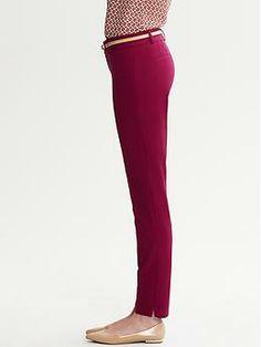 Sloan-Fit Slim Ankle Pant | Banana Republic. Burgandy, yes please!