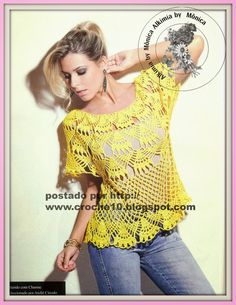 Alkimia: crochet blouse with graphic