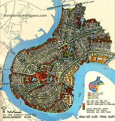 A Tale of Two Plans: Thu Thiem, Phu My Hung and Future Saigon - Saigoneer Fantasy City Map, Fantasy Castle, Fantasy Places, Dark Fantasy, Imaginary Maps, Village Map, City Layout, Dungeon Maps, City Maps