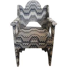 jagged stripe chair