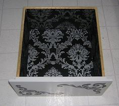 DIY drawer idea..lining the inside w wallpaper that is leftover (gothityourself.com)