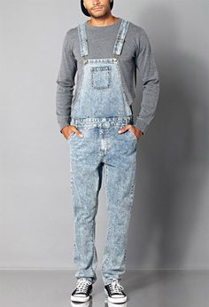 Classic Denim Overalls | 21 MEN - 2000112099