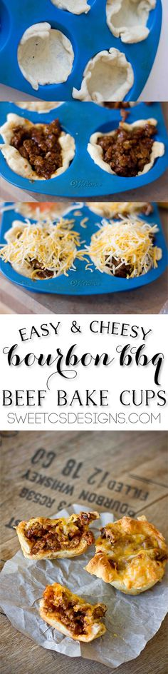 bourbon and bbq beef cups- these are so delicious! This recipe is alcohol free- just a smoky, sweet bourbon flavor!