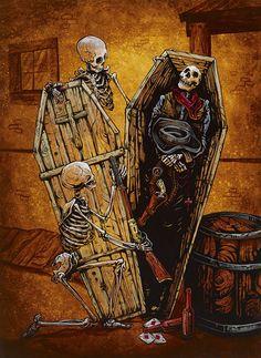 Day of the Dead Artist David Lozeau, Revenge Should Have No Bounds, David Lozeau Dia de los Muertos Art - 1