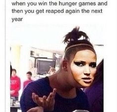 I laughed way harder than I should've Hunger Games Pin, Hunger Games Memes, Hunger Games Fandom, Hunger Games Catching Fire, Hunger Games Trilogy, Katniss And Peeta, Katniss Everdeen, Gale Hawthorne, I Volunteer As Tribute