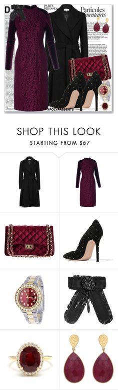 """Ruby Red 12.25"" by rosalol ❤ liked on Polyvore featuring Gianvito Rossi, Rolex, Other, Carousel Jewels, contestentry and polyPresents"