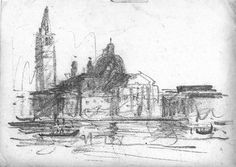 Louis Kahn's sketch of Venice