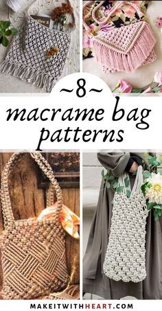 Terrific Pictures Macrame diy bag Strategies 8 absolutely incredible patterns and tutorials for DIY macrame handbags, purses, and market bags Macrame Design, Macrame Art, Macrame Projects, Diy Projects, Sewing Projects, Diy Handbag, Diy Purse, Macrame Purse, Diy Sac